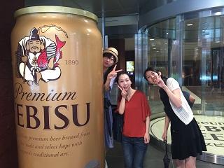 ビールがたのしみな女性陣